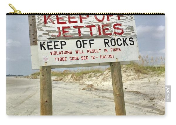 Keep Off Jetties Carry-all Pouch