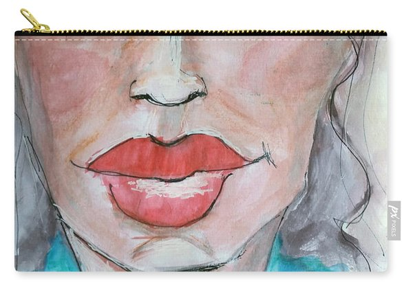 Keep Putting On Lipstick Carry-all Pouch