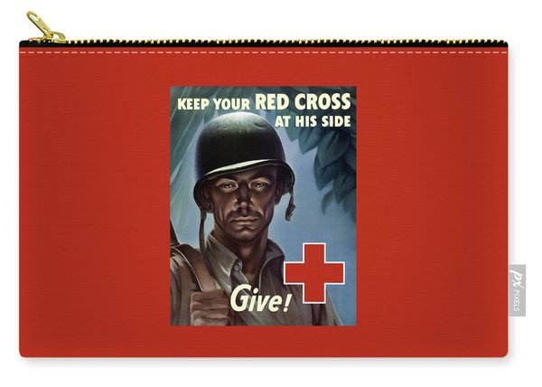 Keep Your Red Cross At His Side Carry-all Pouch