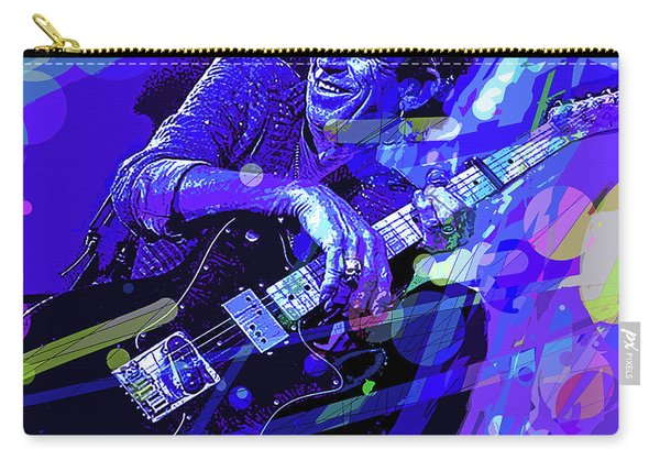 Keith Richards Blue Carry-all Pouch