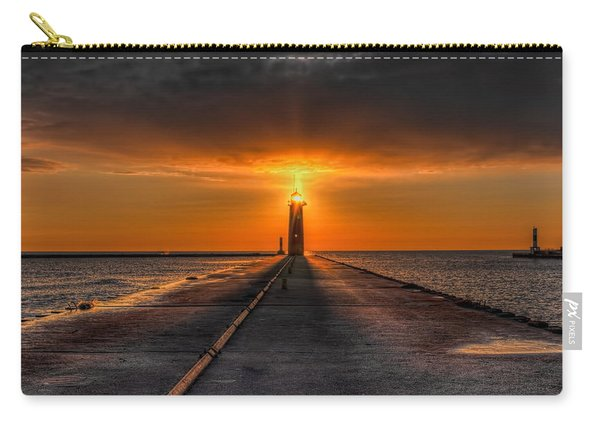 Kenosha Lighthouse Beacon Square Carry-all Pouch
