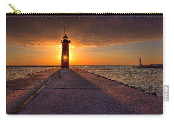 Kenosha Lighthouse Sunrise Carry-all Pouch