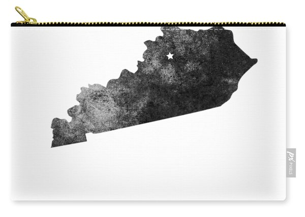Kentucky State Map Art - Grunge Silhouette Carry-all Pouch