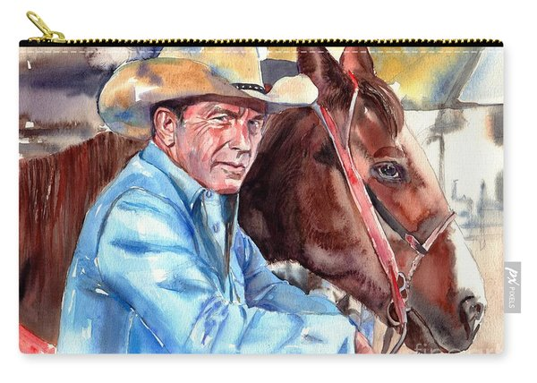 Kevin Costner Portrait Carry-all Pouch