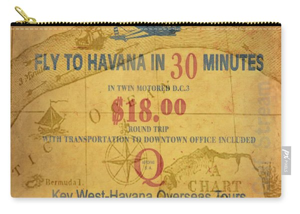 Key West To Havana Carry-all Pouch