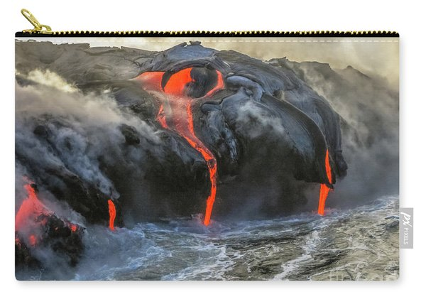 Carry-all Pouch featuring the photograph Kilauea Volcano Hawaii by Benny Marty