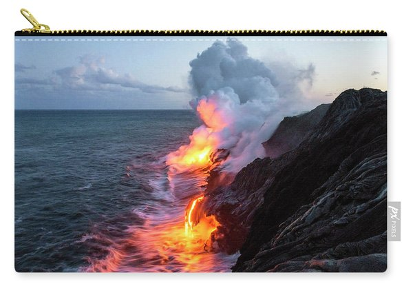 Kilauea Volcano Lava Flow Sea Entry 3- The Big Island Hawaii Carry-all Pouch