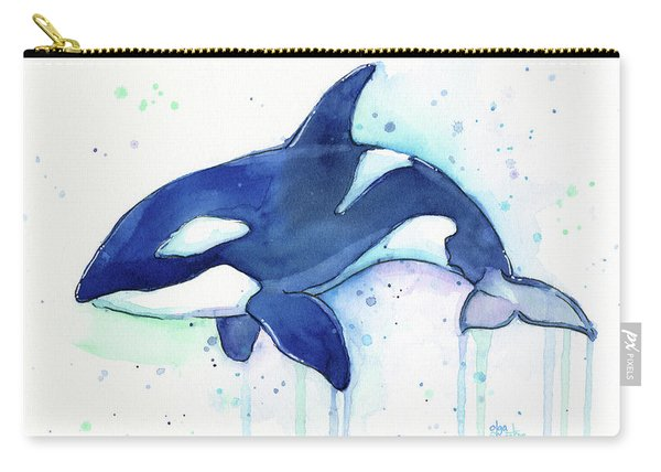 Kiler Whale Watercolor Orca  Carry-all Pouch