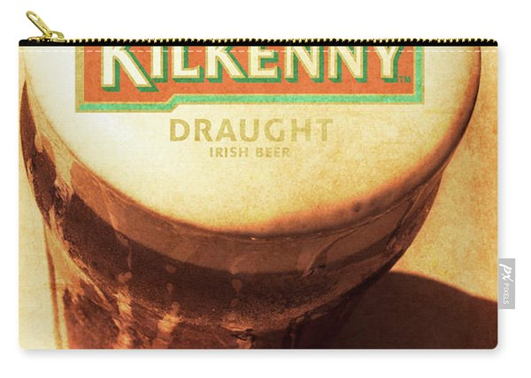 Kilkenny Draught Irish Beer Rusty Tin Sign Carry-all Pouch