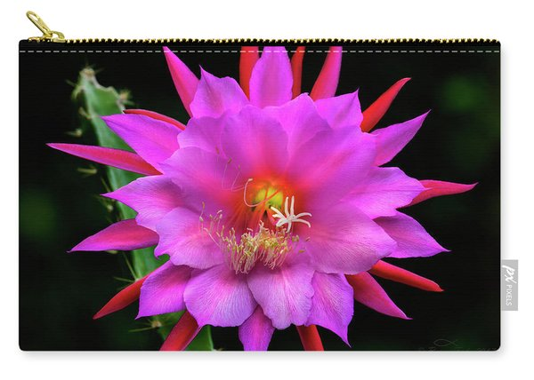 Kimnach's Pink Orchid Cactus Carry-all Pouch