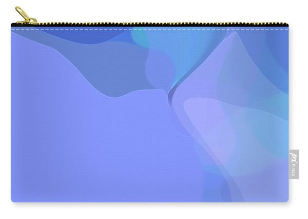 Carry-all Pouch featuring the digital art Kind Of Blue by Gina Harrison