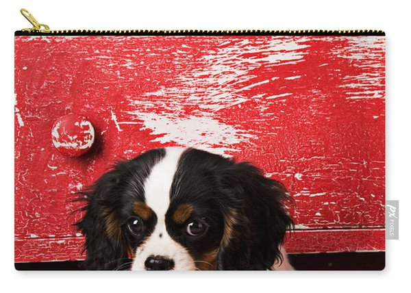 King Charles Cavalier Puppy  Carry-all Pouch