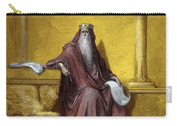 King Solomon Engraving By Gustave Dore Carry-all Pouch