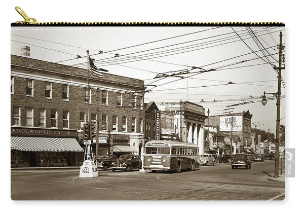 Kingston Corners Kingston Pa Early 1950s Carry-all Pouch