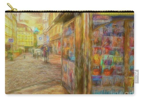 Kiosk - Prague Street Scene Carry-all Pouch