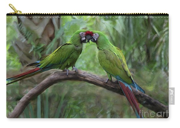 Kissing Macaws Carry-all Pouch