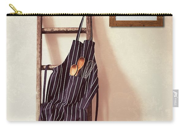 Kitchen Apron Hanging On Ladder Carry-all Pouch