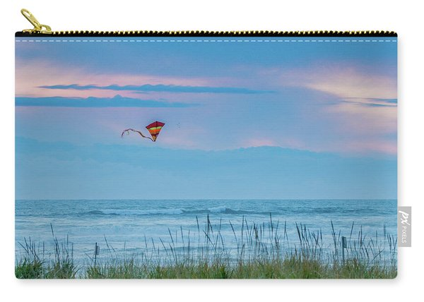 Kite In The Air At Sunset Carry-all Pouch