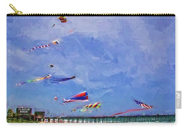 Kites At The Flagler Beach Pier Carry-all Pouch