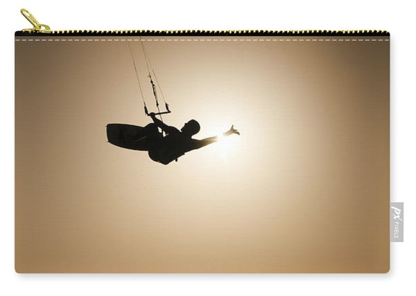 Kitesurfing At Sunset Carry-all Pouch