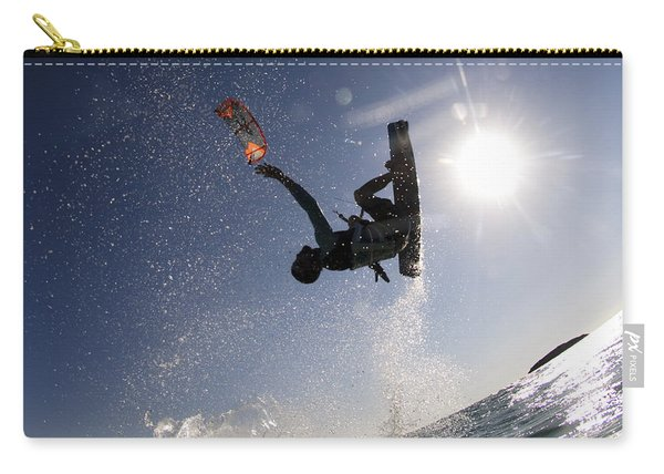 Kitesurfing In The Mediterranean Sea  Carry-all Pouch