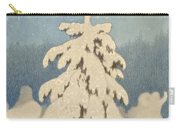 Kittelsen, Theodor 1857-1914 The Christmas Tree Carry-all Pouch