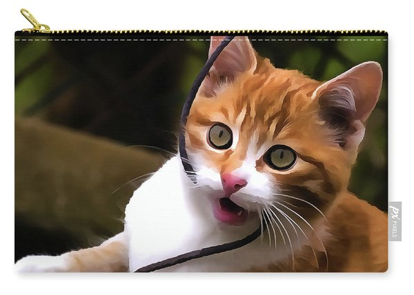 Kitten Portrait Player Carry-all Pouch