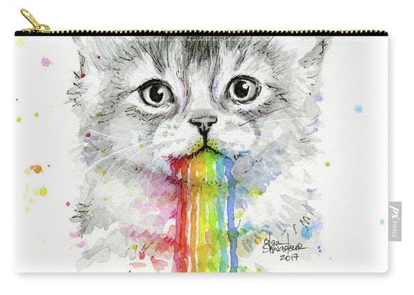 Kitten Puking Rainbows Carry-all Pouch