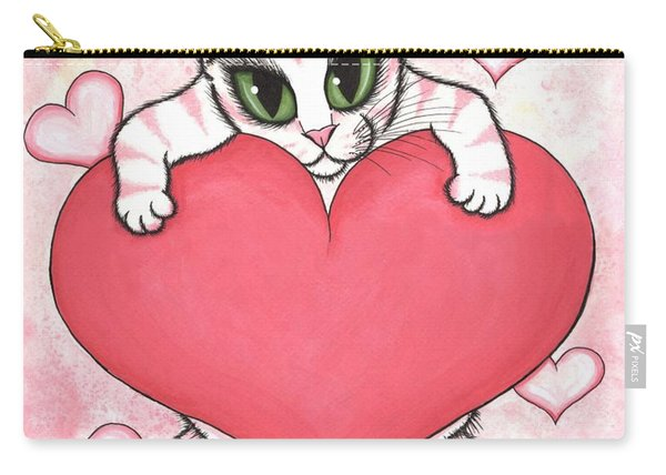 Kitten With Heart Carry-all Pouch