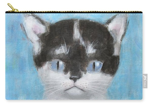 Kitten With Three Clouds Carry-all Pouch