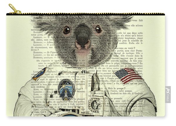 Koala In Space Illustration Carry-all Pouch