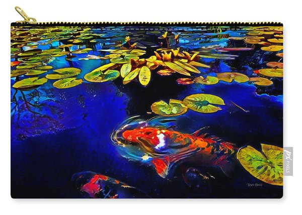 Koi In A Pond Of Water Lilies Carry-all Pouch