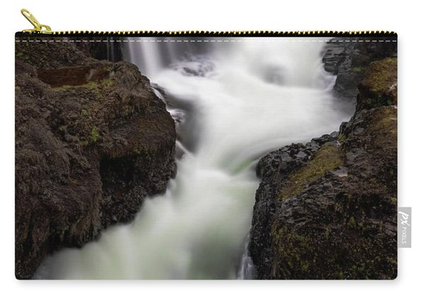 Carry-all Pouch featuring the photograph Kolugljufur Waterfalls by Tom Singleton