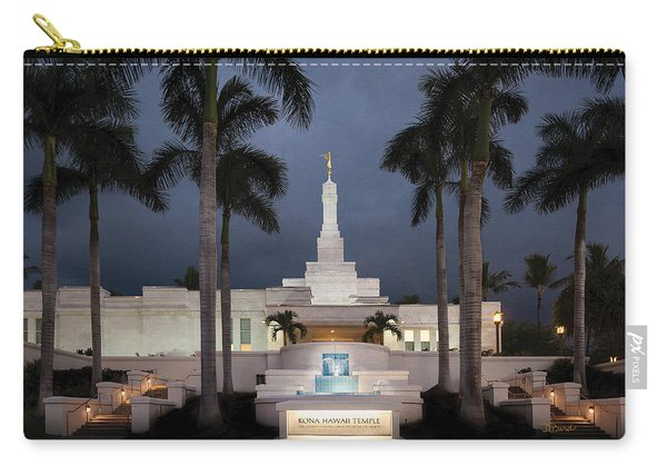 Kona Hawaii Temple-night Carry-all Pouch