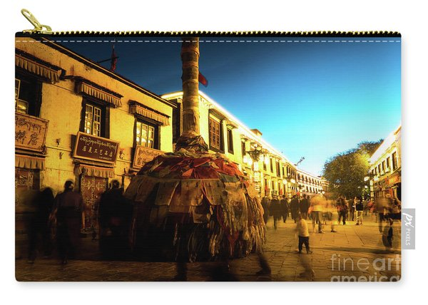 Kora At Night At Jokhang Temple Lhasa Tibet Artmif.lv Carry-all Pouch