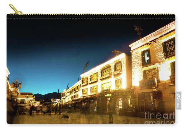 Kora At Night At Jokhang Temple Lhasa Tibet Yantra.lv Carry-all Pouch