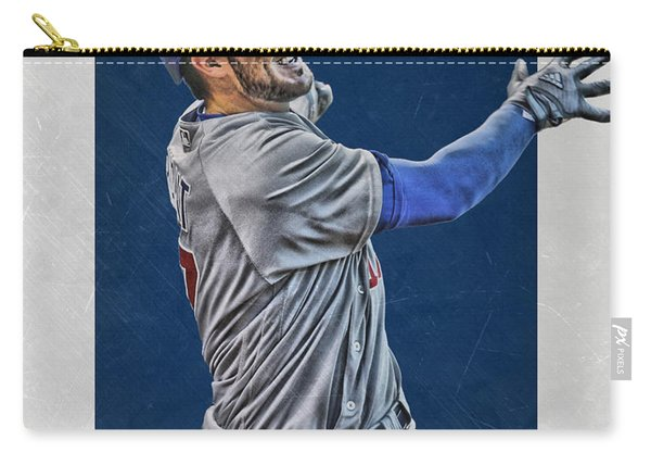 Kris Bryant Chicago Cubs Art 3 Carry-all Pouch