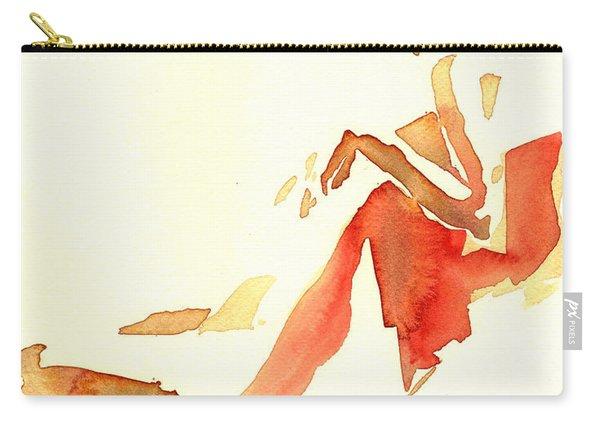 Kroki 2015 03 28_29 Maalarhelg 4 Akvarell Watercolor Figure Drawing Carry-all Pouch