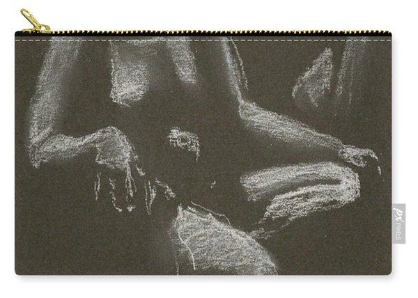 Kroki 2015 04 25 _3 Figure Drawing White Chalk Beskuren Carry-all Pouch