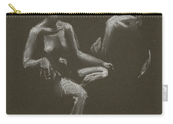 Kroki 2015 04 25 _3 Figure Drawing White Chalk Carry-all Pouch