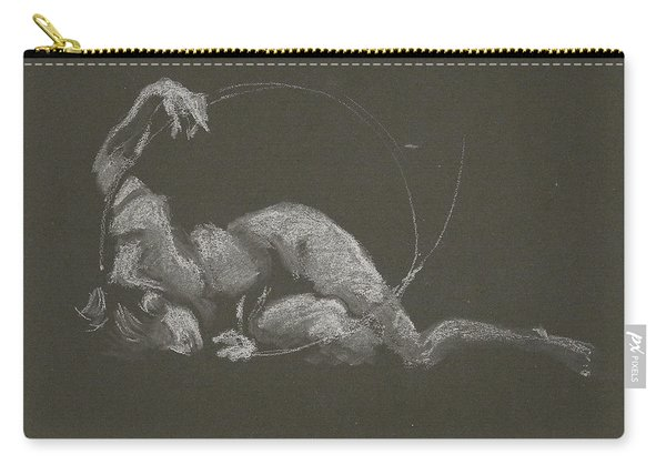 Kroki 2015 10 03_14b Figure Drawing White Chalk Carry-all Pouch