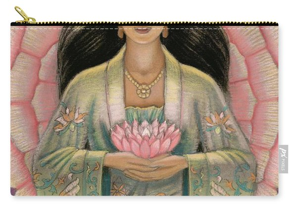 Kuan Yin Pink Lotus Heart Carry-all Pouch