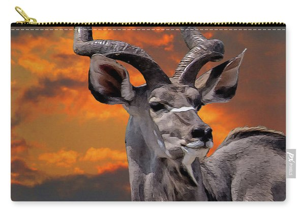 Kudu At Sunset Carry-all Pouch