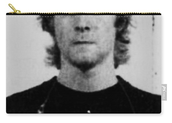 Kurt Cobain Mug Shot Vertical Black And Gray Grey Carry-all Pouch
