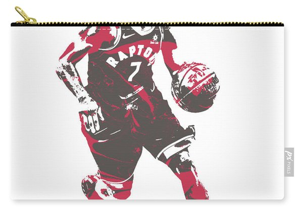 Kyle Lowry Toronto Raptors Pixel Art 60 Carry-all Pouch