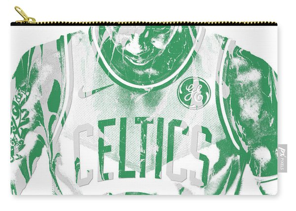 Kyrie Irving Boston Celtics Pixel Art 5 Carry-all Pouch