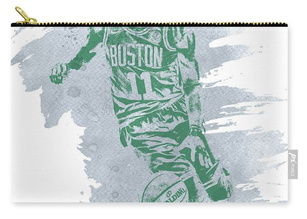 Kyrie Irving Boston Celtics Water Color Art 3 Carry-all Pouch