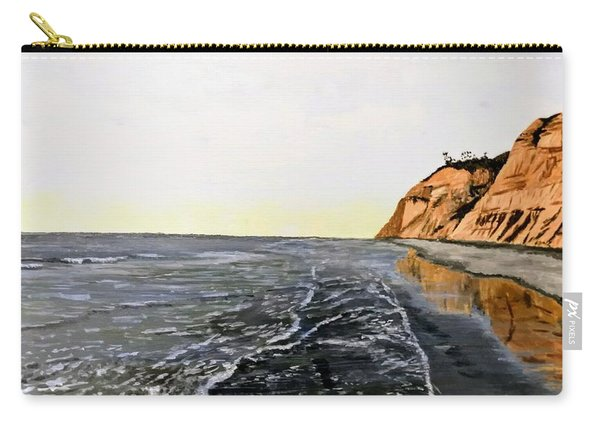 Carry-all Pouch featuring the painting La Jolla Shoreline by Kevin Daly