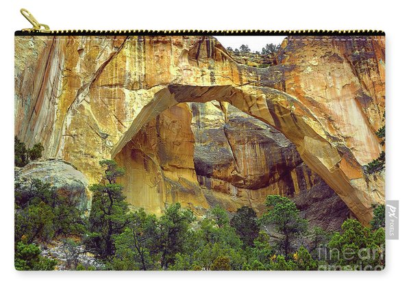 Carry-all Pouch featuring the photograph La Ventana Natural Arch by Susan Warren