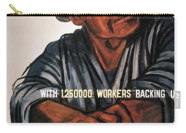 Labor Poster, 1930s Carry-all Pouch